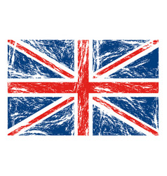 Flag united kingdom with grunge texture vector