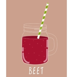 Fresh Beet Smoothie Healthy Food vector image vector image