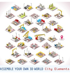 Game set 02 building isometric vector