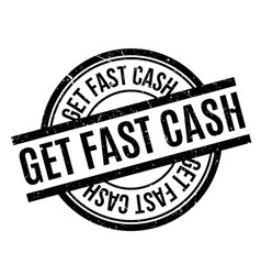 get fast cash rubber stamp vector image vector image