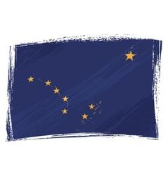 grunge alaska flag vector image vector image