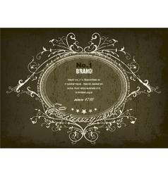 grunge vintage label vector image vector image