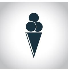 Ice cream cone icon vector image