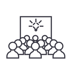 idea presentation linear icon sign symbol vector image