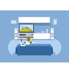 Interior home cinema vector