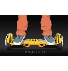 Legs on wheel segway electric hover board vector