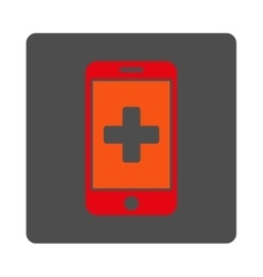 Mobile medicine flat button vector