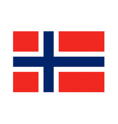 norway flag pixel art cartoon retro game style vector image vector image