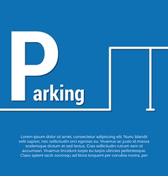 parking design concept with place for text vector image vector image