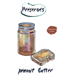 peanut butter watercolor vector image