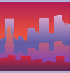 Silhouette of a big city vector