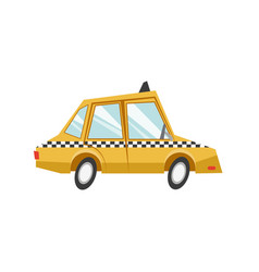 Taxi car transport public service vector
