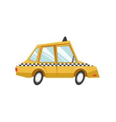 taxi car transport public service vector image