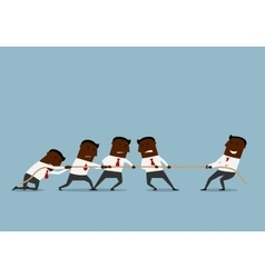 Tug of war business competition vector
