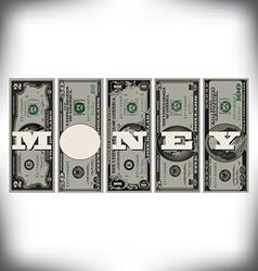 Vertical money bills vector