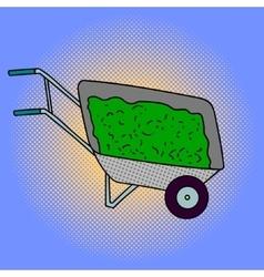 Wheelbarrow pop art vector
