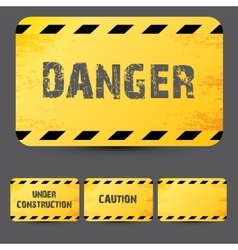 Yellow security warning tapes set Caution vector image