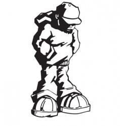 youth wearing hoodie vector image vector image