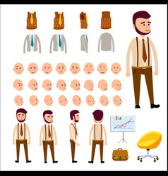 Male character constructor isolated vector