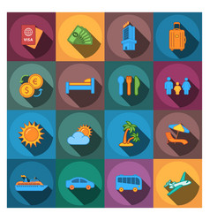 travel company icons vector image