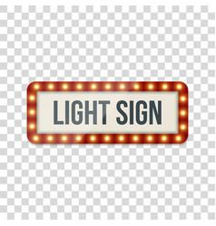 Light sign realistic billboard template vector