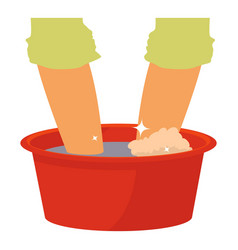 Washing in the basin icon cartoon style vector