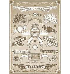 Vintage hand drawn graphic page banner vector