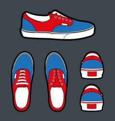 Shoes authentic vector