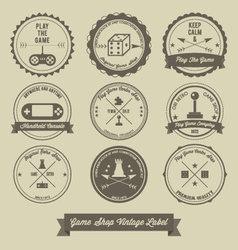 Game Shop Vintage label design vector image