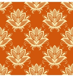 Yellow and orange paisley seamless pattern vector image