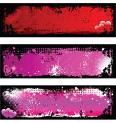 grunge Valentine's backgrounds vector image