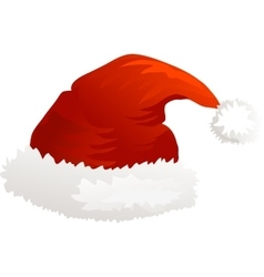 Christmas icon Santa hat vector image