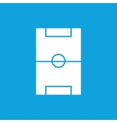 Simple football field blue icon vector