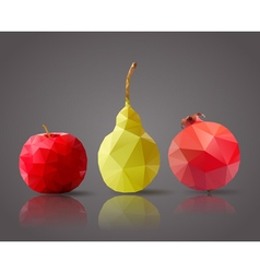 Fruits set triangle vector