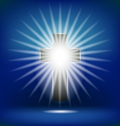 Shining cross isolated vector