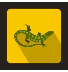 Spotted lizard icon flat style vector