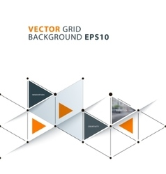 Abstract background template with triangles vector