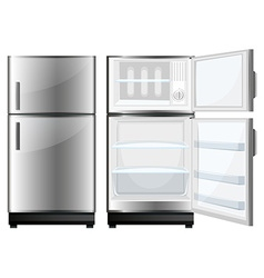 Refridgerator with closed and opened door vector image