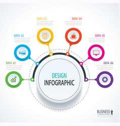 Abstract circle infographics number options vector
