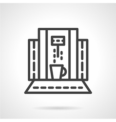 Abstract coffee machine line icon vector