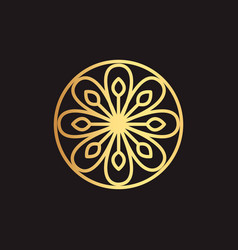 abstract element for design gold decoration vector image