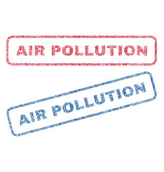 Air pollution textile stamps vector