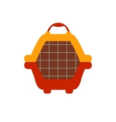 Animal carrier flat icon vector