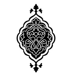 Artistic ottoman pattern series sixty eight vector