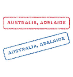 Australia adelaide textile stamps vector