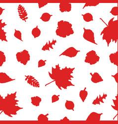 Autumn seamless red ornamen vector