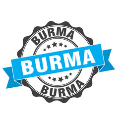 Burma round ribbon seal vector