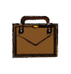 Business suitcase portfolio elegant acessory vector