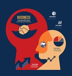 business template modern minimal flat design vector image vector image