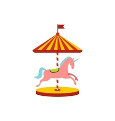 Carousel with horses icon vector